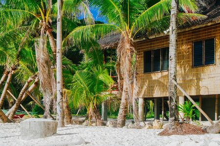 bathe: Tropical bungalows on tropical island in Asia