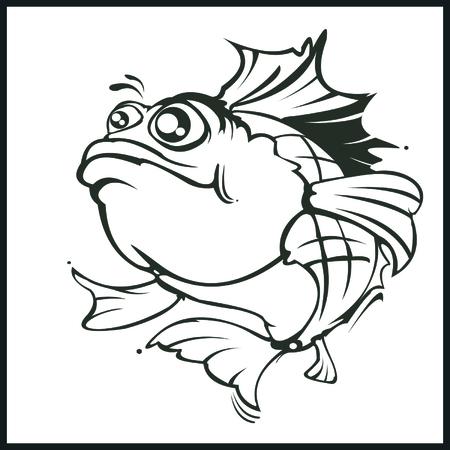 largemouth: fish illustration