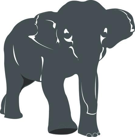 monstrous: elefante Vettoriali