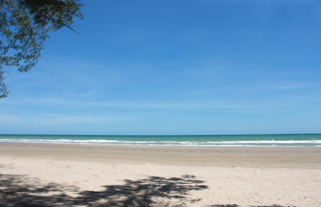 Seascape of Thai Sea with tree shadow at Rayong Stock Photo - 8609094