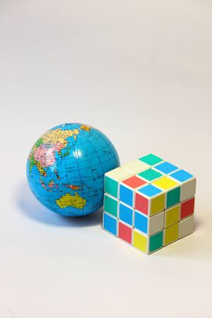 Globe and cubic photo