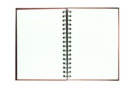 Brown notebook isolated on white background Stock Photo - 9012463