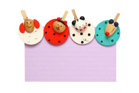 Notepad with colorful clips