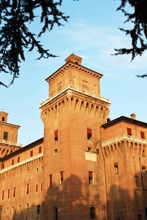 ferrara: Big castle in Ferrara, Italy