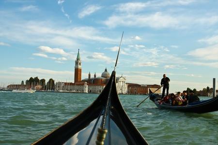 Gondola in Venice, Italy photo