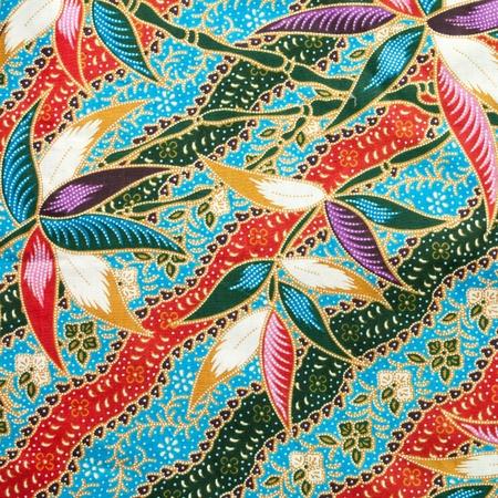 Thai fabric pattern photo