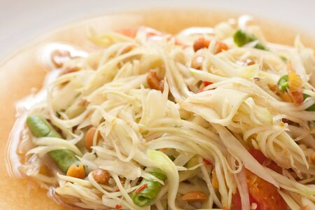 Thai papaya salad photo