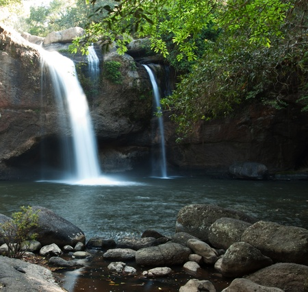 Waterfall in nature of Thailand