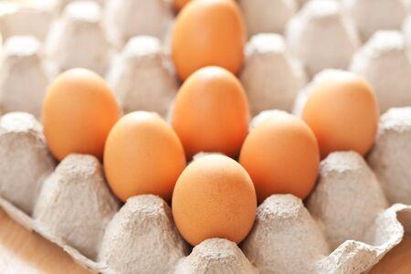 Arrow created on eggs photo