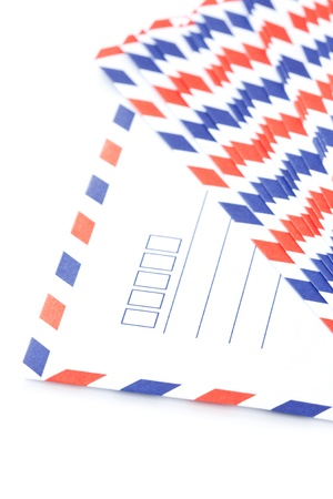 White envelope stacking photo