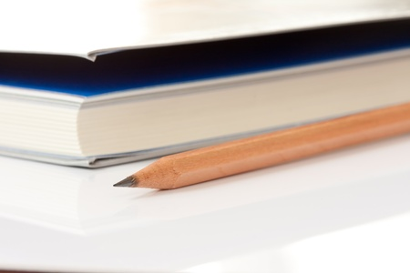 Pencil and book photo