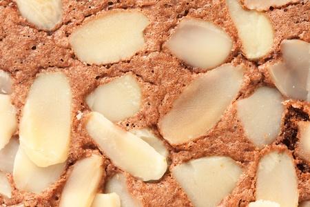 Brownie cake with almond Stock Photo