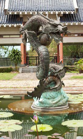 Iron Chinese dragon Stock Photo