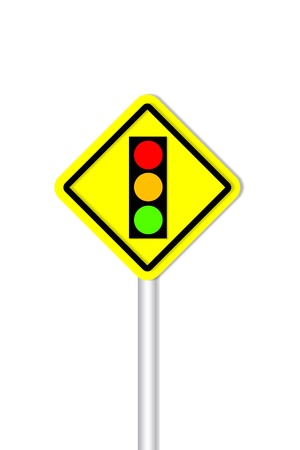 Traffic light road sign style Stock Photo - 13209859