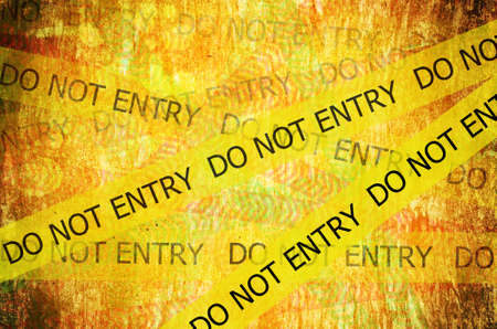 Do not entry on grunge background photo