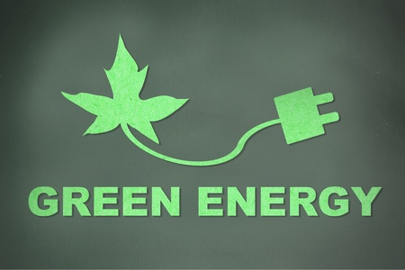 Green energy concept photo