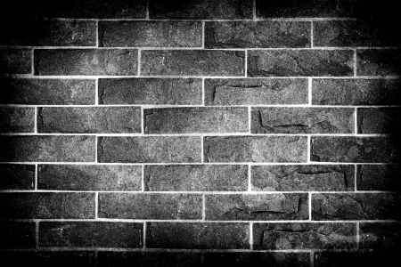 Black and white brick wall with HDR technique