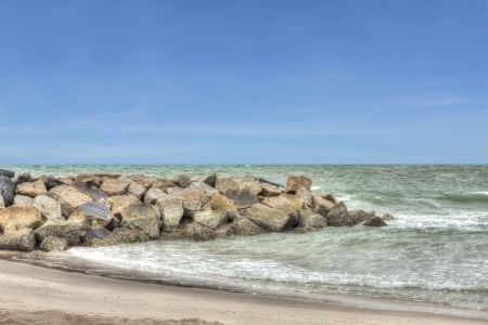 Rock barrier wave in the sea with HDR technique Stock Photo - 14271023