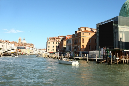 Building and canal in Venice, Italy photo