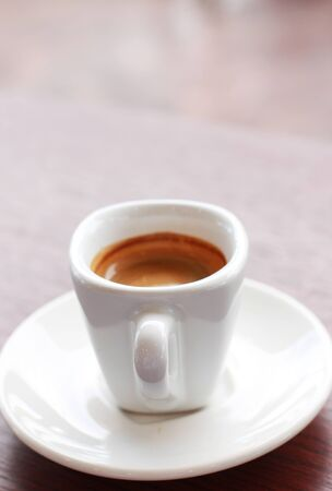A cup of hot coffee
