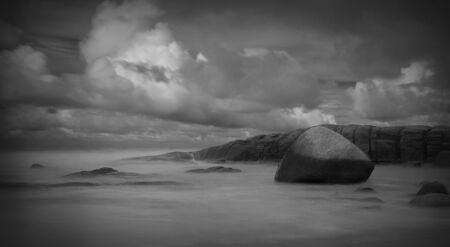 Seascape with long exposure Stock Photo - 15491140