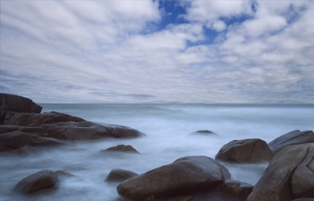 Seascape with long exposure Stock Photo - 15491139