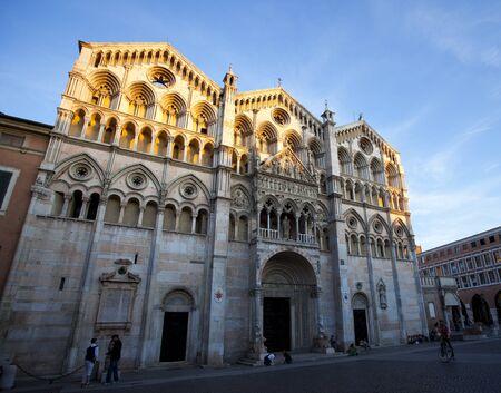 ferrara: Catherdal in Ferrara, Italy  Editorial