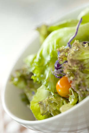 Fresh vegetable salad photo