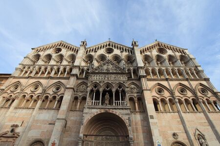 Cathedral in Ferrara city, Italy