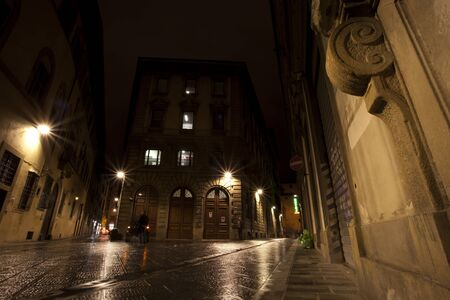 Walking street in Florence, Italy photo