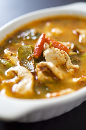 Chicken tom yum as Thai delicious food photo