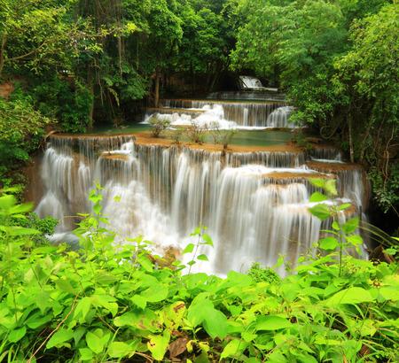 Waterfall in nature photo