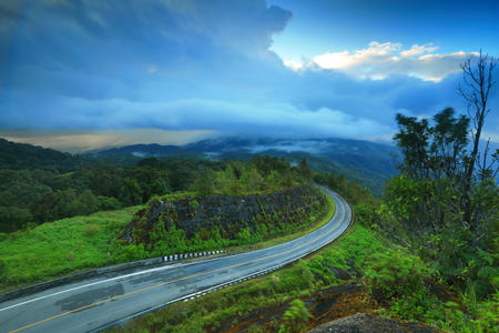 Road curve in Chiangmai photo