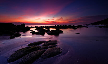 Seascape in the evening photo