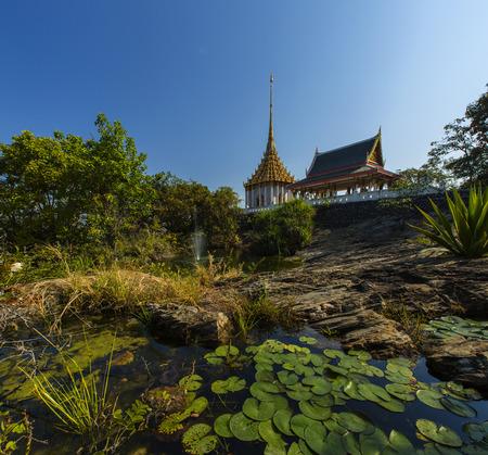 Beautiful golden church in Thailand