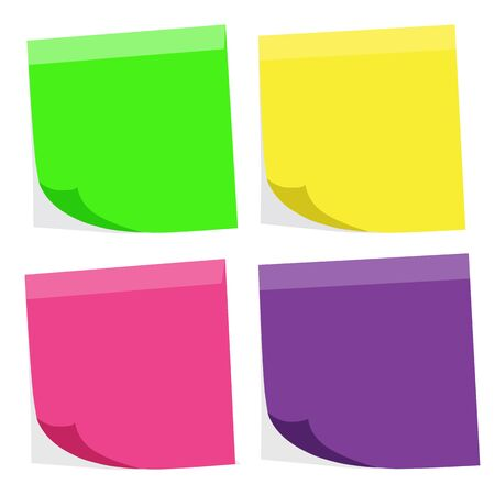 Blank post it Stock Photo