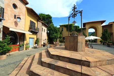 Italian village at countryside Editorial
