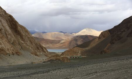 lamaism: Pangong lake in Leh, Ladakh, India Stock Photo