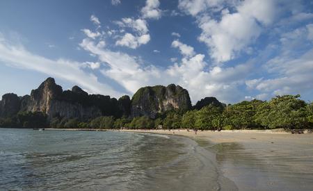 krabi: Railay beach in Krabi, Thailand Stock Photo