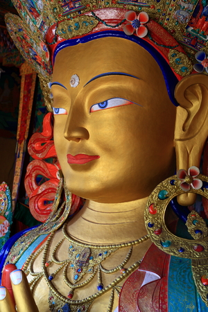 Golden future buddha Stock Photo