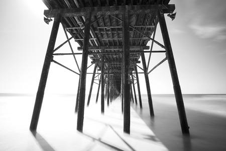 oceanside: Boardwalk in mono