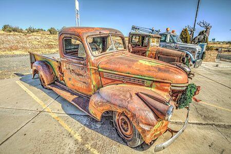 hdri: Oldschool truck Stock Photo