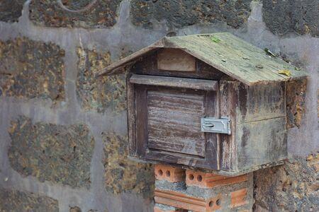 metal mailbox: Mail box Wood Stock Photo