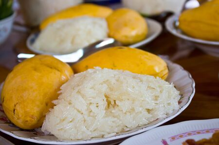 Thai s dessert Mango sticky rice photo