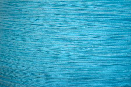 Blue cotton fabric texture Stock Photo