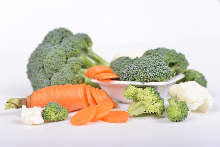 quick snack: Healthy choice - fresh veggies ready for salad or soup, or just quick snack