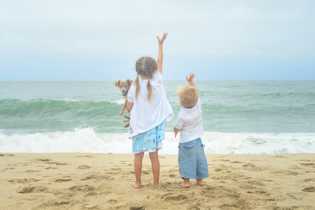 parting the sea: Its easier to say goodbye with good friends by your side. Brothers and sisters are friends for a lifetime.