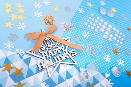 Paper and glitter for Christmas craft making