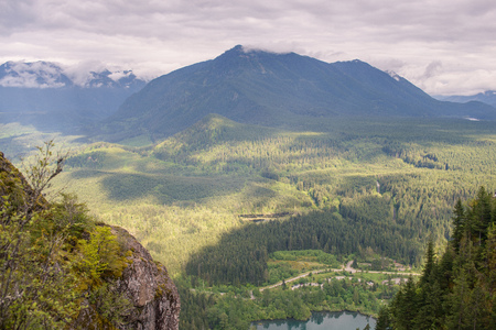 Beautiful scenic view from mountain top Stock Photo - 96564165