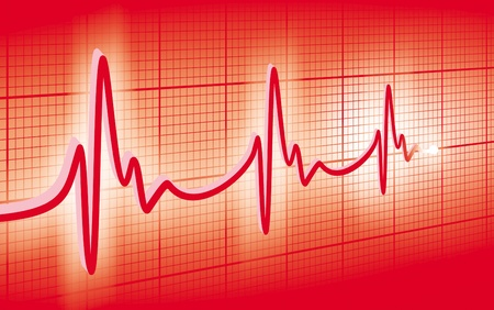 cardioid: cardiogram Foto de archivo